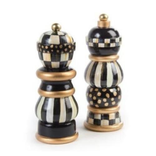 MacKenzie-Childs Courtly Check Salt & Pepper Mill Set 7'' by MacKenzie-Childs