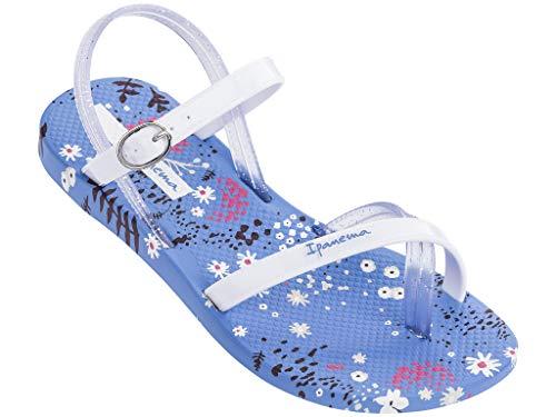 Ipanema Suzi Print Girls' Sandals, Blue/White (3 US) -