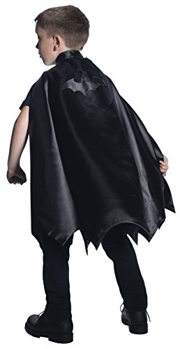 Black Batman Costumes Child (Rubie's Costume DC Superheroes Batman Deluxe Child Cape Costume)