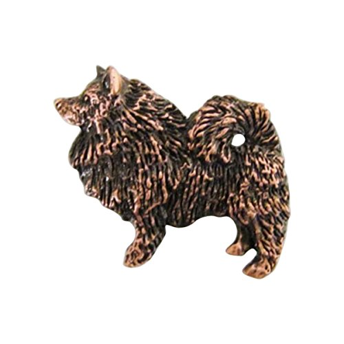 Cuivre ~ Full Body Spitz Loup ~ Pin's (épinglette/Broche ~ dc410F