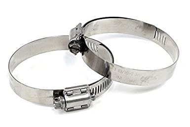 1//2 Band Pack of 2 Effective Size 4-1//8-5 HPS SSWC-105-127x2 HPS Stainless Steel Worm Gear Liner Hose Clamps SAE 72 Effective Size 4-1//8-5 1//2 Band Pack of 2