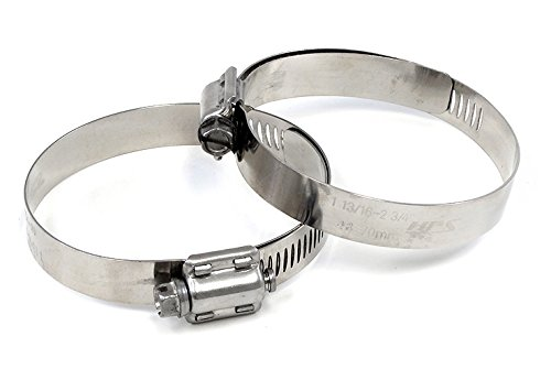 (HPS SSWC-105-127x2 HPS Stainless Steel Worm Gear Liner Hose Clamps SAE 72, Effective Size 4-1/8