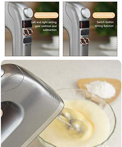 Safe Keuken Elektrische Mixer Hand Mixer Electric, 9-Speed handmixer met Turbo Handheld Keukenmengkraan Inclusief Kloppers, deeghaken en Storage Case BPA-vrij