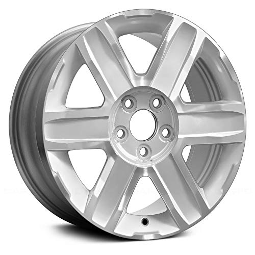 (Value 18X7 Alloy Wheel 6 Spoke Sparkle Silver with a Machined Face OE Quality Replacement)