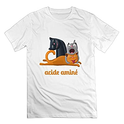 HEXUN Men's Acide Amine Fashion Funny T-Shirt
