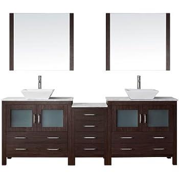 Design Element Odyssey Double Trough Style Sink Vanity Set Inch - 90 inch bathroom vanity