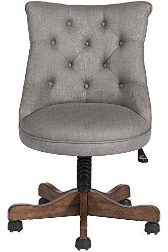 amazon com rebecca office chair 41 5 hx24 wx27 d grey linen rh amazon com Linon Augusta Bench linon sinclair executive office chair with nailhead trim