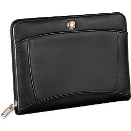 Wenger jr. Zippered padfolio note pad black