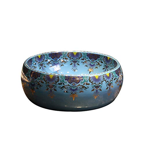 GLXYFC Art Counter Basin, European Ceramic Wash Basin - Bathroom Washbasin Washbasin - Household Counter Wash Basin