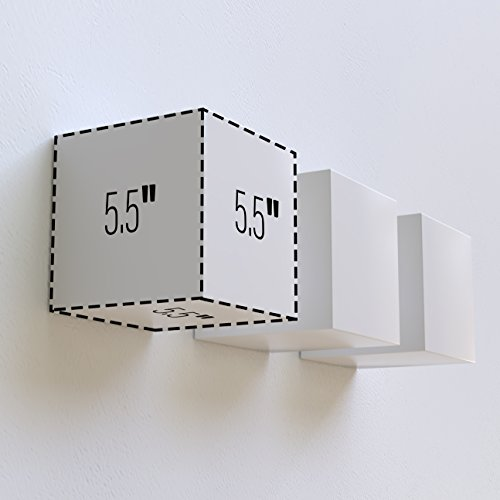 brightmaison Decorative Square Wall Cubes Floating Block Shelves Set of 6 White by brightmaison (Image #6)