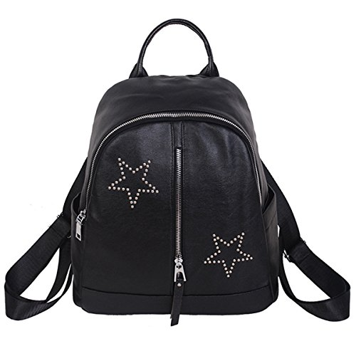 Backpack for Women - Bageek Black Backpack PU Leather Backpack Casual Backpack by Bageek (Image #7)