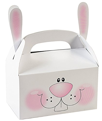 Paper Bunny Treat Boxes With Ears (pack of 12) - Easter Bunny Paper