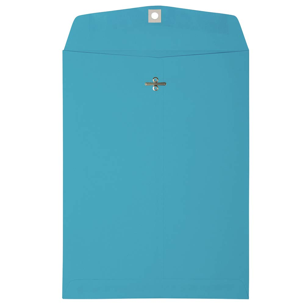 JAM PAPER 9 x 12 Colored Envelopes with Clasp Closure - Blue - 100/Pack by JAM Paper