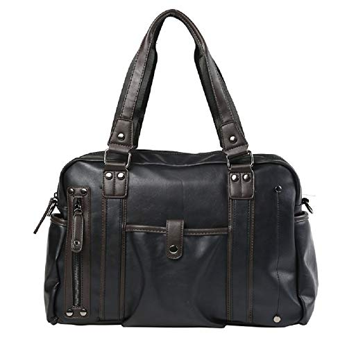 Travel Bag Black Casual Handbag black Trende Men's Package Zhrui Fashion With Capacity Shoulder Leather Large Laptop 1 wa0xqPUUA4
