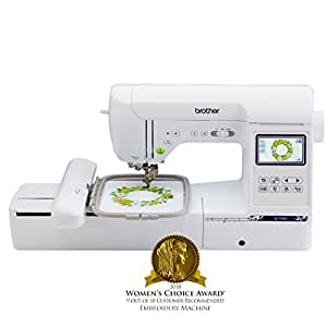 """Brother Computerized Sewing and Embroidery Machine, SE1900, Combination Sewing and Embroidery Machine with 5"""" x 7"""" Embroidery Field, Large Color Touch LCD Screen, 138 Built-In Designs, 8 Sewing Feet"""