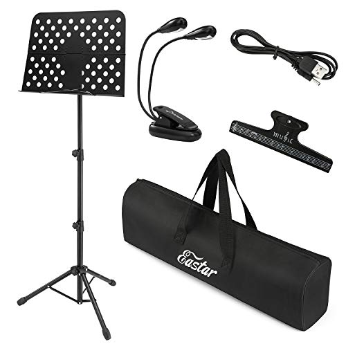 Eastar Folding Sheet Music Stand 19.1'' X 13.8'' EMS-1 Portable