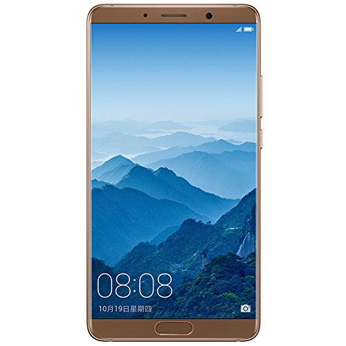 "Huawei Mate 10 128GB - Dual SIM [Android 8.0, 5.9"" IPS LCD, 6GB RAM, Hisilicon Kirin 970 , Dual 20 MP +12 MP, 4000mAh] Factory Unlocked International Version - GSM ONLY, NO CDMA (Brown)"