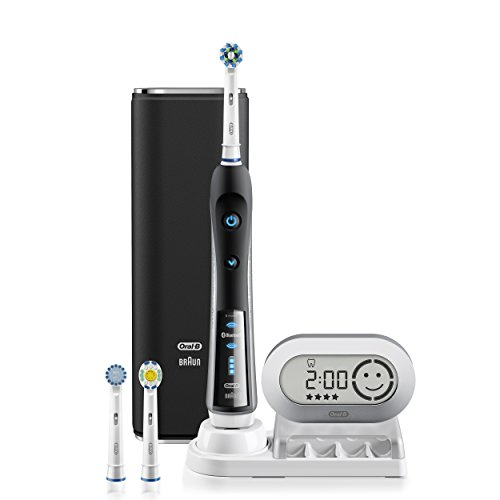 Oral-B Pro 7000 SmartSeries Black Electronic Power Rechargeable Battery Electric Toothbrush with Bluetooth Connectivity Powered by Braun