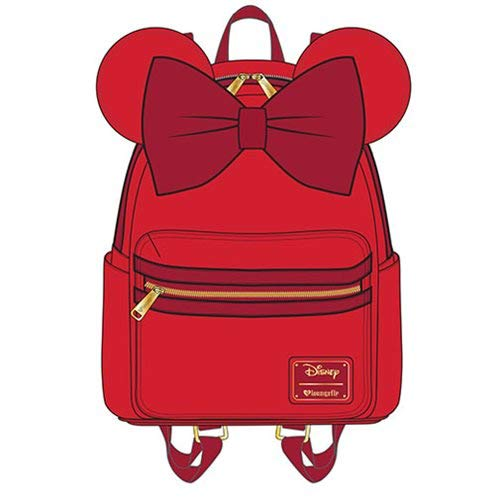 Loungefly Minnie Mouse Red Faux Leather Mini Backpack Standard from Loungefly