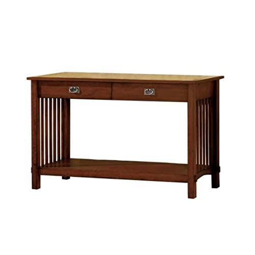 Furniture of America Liverpool 2-Drawer Mission Style Entryway Table,  Antique Oak Finish - Antique Oak Furniture: Amazon.com