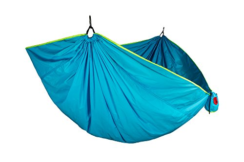 Grand Trunk Double Trunktech Nylon Hammock, Caribbean Blue: Portable with Carabiners and Hanging Kit - Perfect for Outdoor Adventures, Backpacking, and Festivals ()