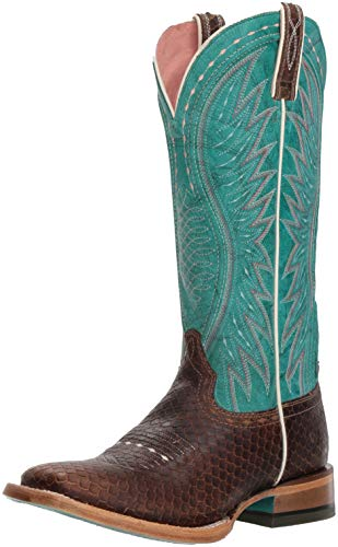 Ariat Women's VAQUERA Boot, diamondback tan/topaz turquoise, 8 B ()