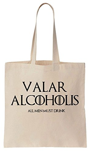 Valar Alcoholis All Men Must Drink Art Sacchetto di cotone tela di canapa