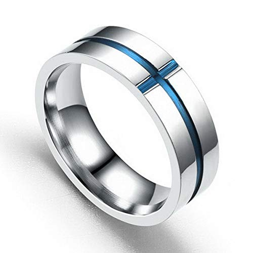 - Endicot MenWoman Stainless Steel Couple Band Ring Fashion Wedding Engagement Size 6-13 | Model RNG - 18201 | 12