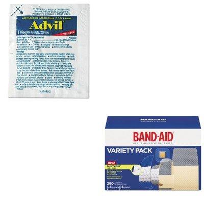 KITJOJ4711LIL58030 - Value Kit - Advil Single-Dose Ibuprofen Tablets Refill Packs (LIL58030) and Band-aid Sheer/Wet Adhesive Bandages (JOJ4711)