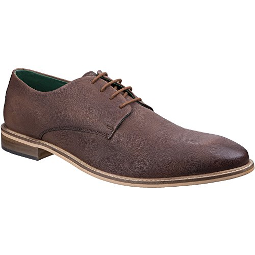 Lambretta Mens Scotts Brogue King Lace Up Leather Durable Oxford Shoes Brown
