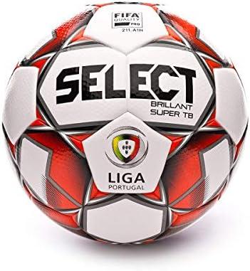 Select Brillant Super TB 2019-2020, Balón, White-Red-Black, Talla ...
