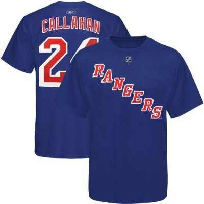 Ryan Callahan New York Rangers Navy Jersey Name and Number T-Shirt XX-Large -  Reebok, callahanroyalteeXX-Large