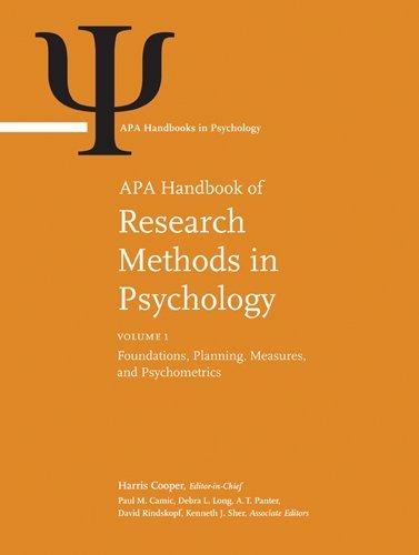 APA Handbook of Research Methods in Psychology