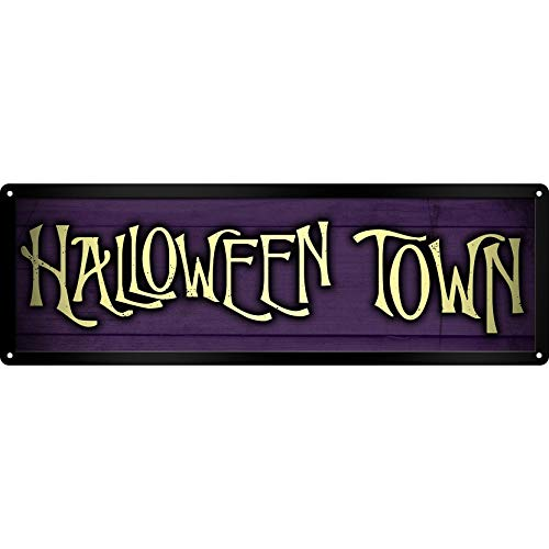 Grindstore Halloween Town Slim Tin Sign (One Size) (Purple) ()