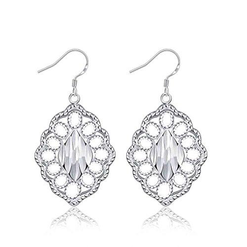 fonk: newest silver earings Lozenge drop orecchini Factory SMTE678
