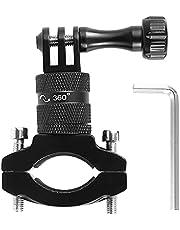Action Camera Handlebar Mount Waterproof Motorcycle Bicycle Camera Holder 360°Rotation Adjustable Bike Handlebar Camera Stand Holder for Gopro Hero 9 8 7, DJI OSMO Action Xiaoyi Camera Accessories