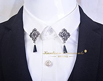 Amazon.com: Coreano broche de trajes de hombre MS. Ciruela ...