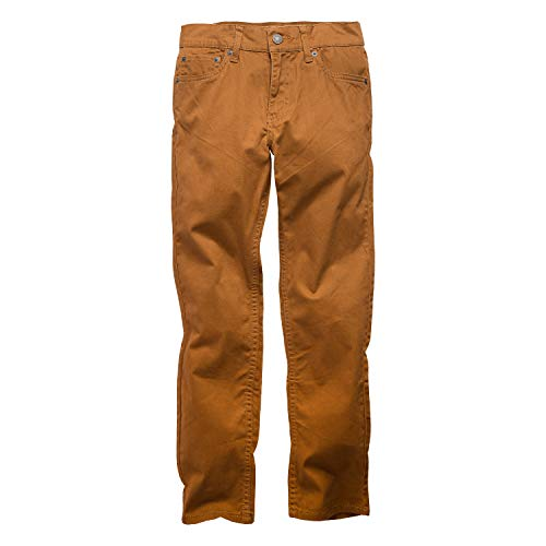 Levi's Boys' Big 511 Slim Fit Soft Brushed Pants, Brown Rubber, 14