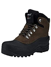 riemot Men's Boots Waterproof Warm Snow Boots for Winter Outdoor Hiking Camping