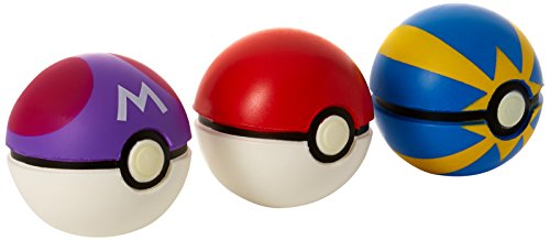 Pokemon Throw 'N' Catch Poké Ball 3 Pack (Pokemon Toy Ball)