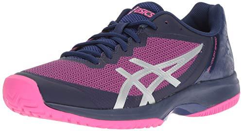 - ASICS Women's Gel-Court Speed Blue Print/Pink Glo 8 B US