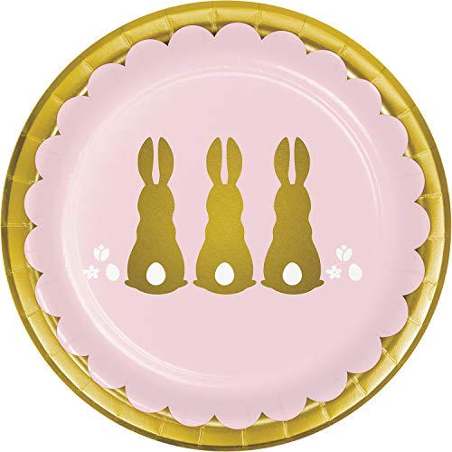 Golden Easter Dessert Plates, 24 ct
