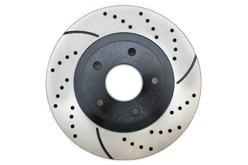 Prime Choice Auto Parts PR41308R Front Passengers Side Performance Drilled And Slotted Brake Rotor