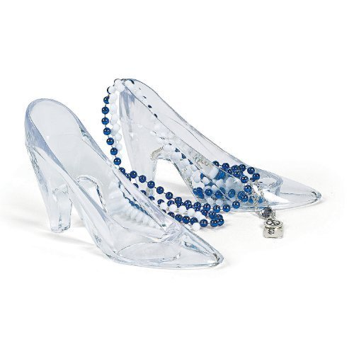 Fun Express Plastic Princess Shoes (6 (Glass Slippers For Girls)