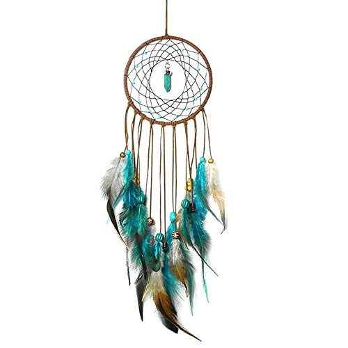 DUOER-wind chimes Handmade Dream Catcher Feather Colorful Living Room Garden Hanging Pendant Home Car Hanging Decor Dream Catcher Ornament (Color : Style 1) by DUOER-wind chimes (Image #6)