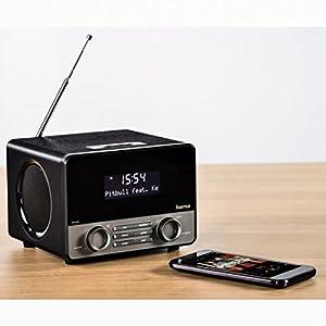 hama digitalradio dr1600 kleines dab radio mit. Black Bedroom Furniture Sets. Home Design Ideas