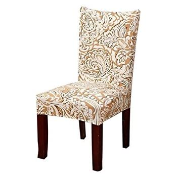 kaariss stretch removable washable short dining chair protector cover slipcover 08