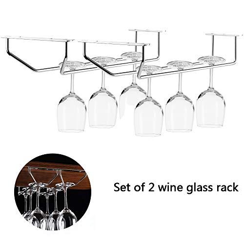 chrome hanging wine rack - 6