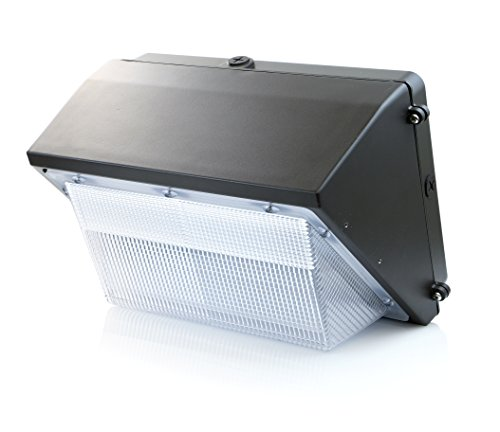 Hyperikon 45W LED Wall Pack Fixture, 250-300W HPS/HID Replacement, 5000K, 5400 Lumens, IP 65 Waterproof and Outdoor Rated, DLC 4.2 & UL - Shield Included