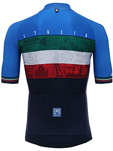 Santini-Blue-2018-Emblem-Short-Sleeved-Cycling-Jersey